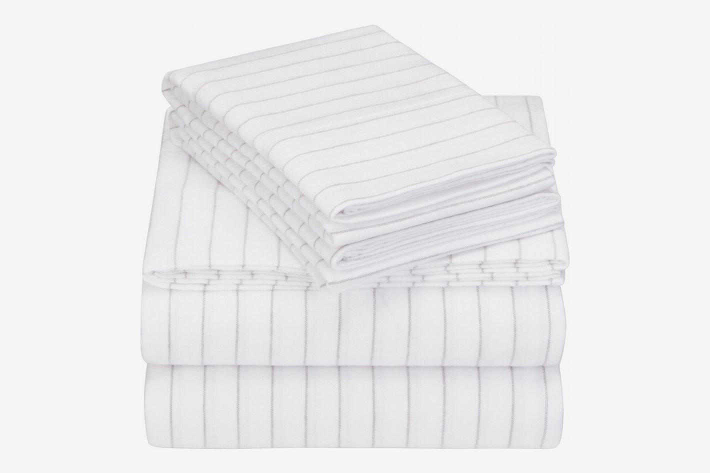 Pinzon 160 Gram Pinstripe Flannel Sheet Set
