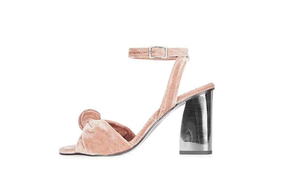 Topshop Rocksy spot velvet sandals