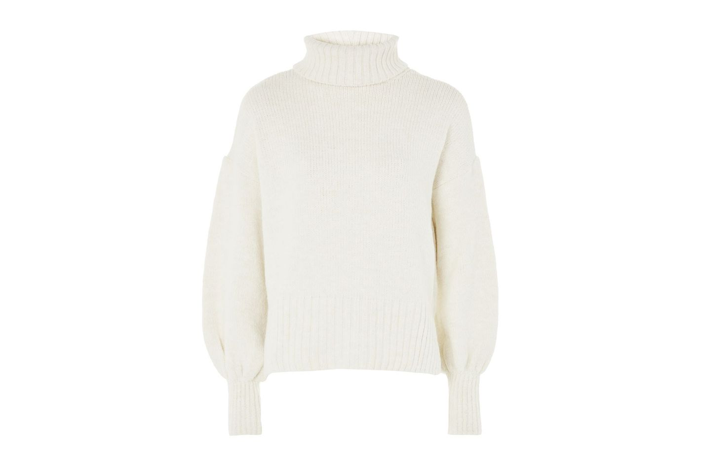 Topshop Super Soft Ribbed Roll Neck Sweater