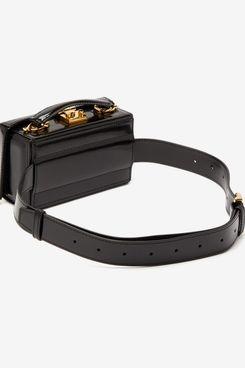 Mark Cross Grace Top-Handle Leather Belt Bag