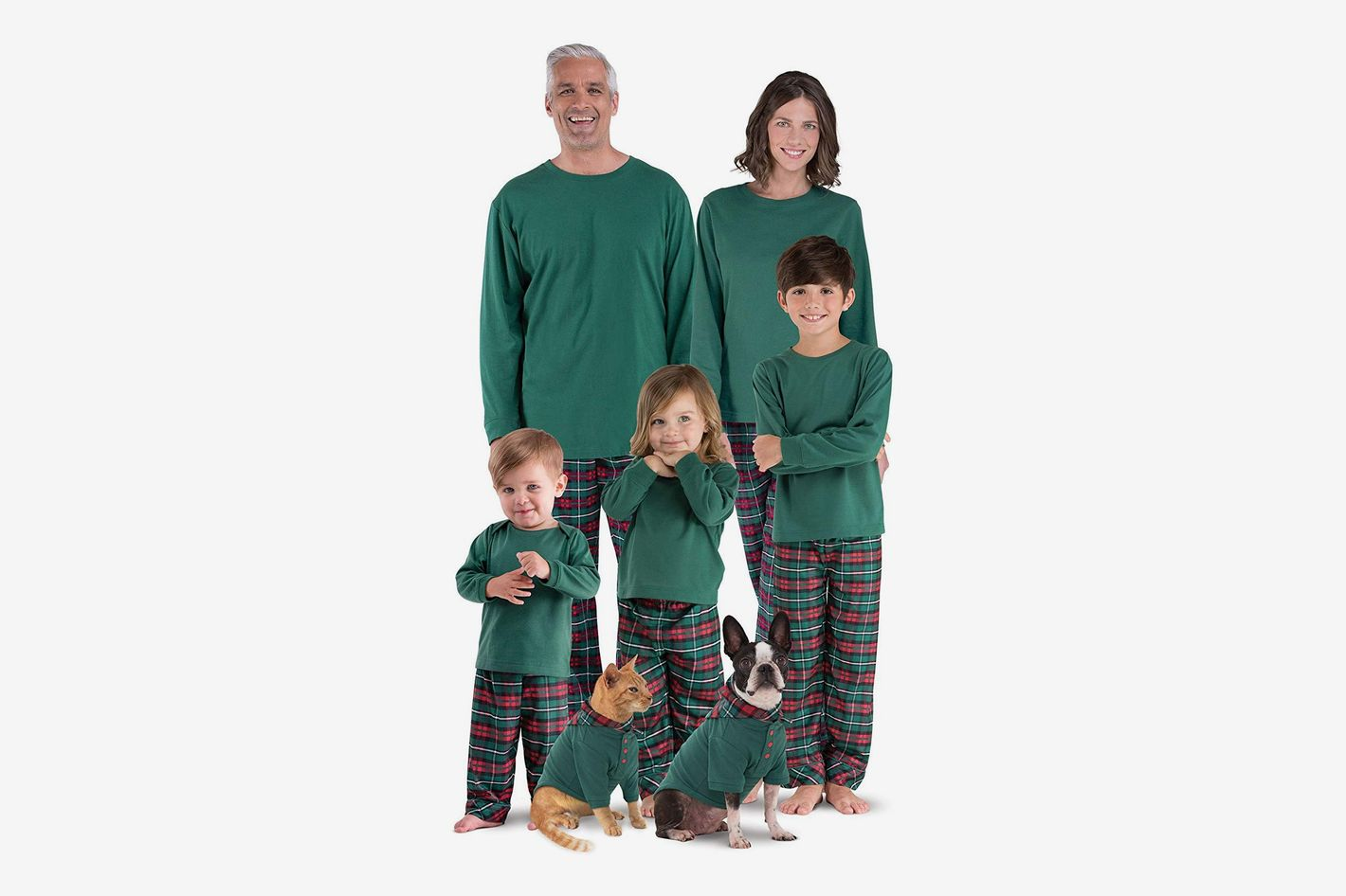 PajamaGram Family Christmas Pajamas Flannel Red Green c1c0fc049