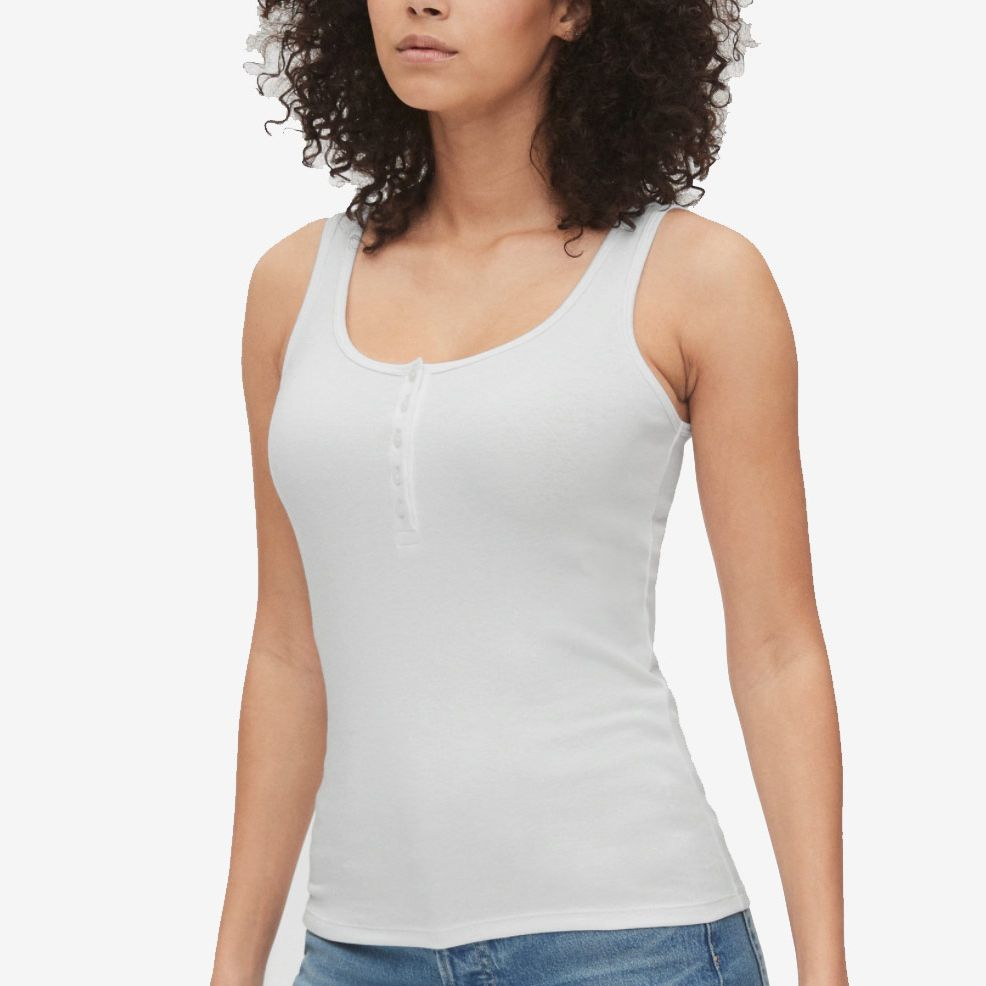 Womens Sleeveless Cotton Linen V Neck Henley Tank Tops Blouse Shirts Tunic