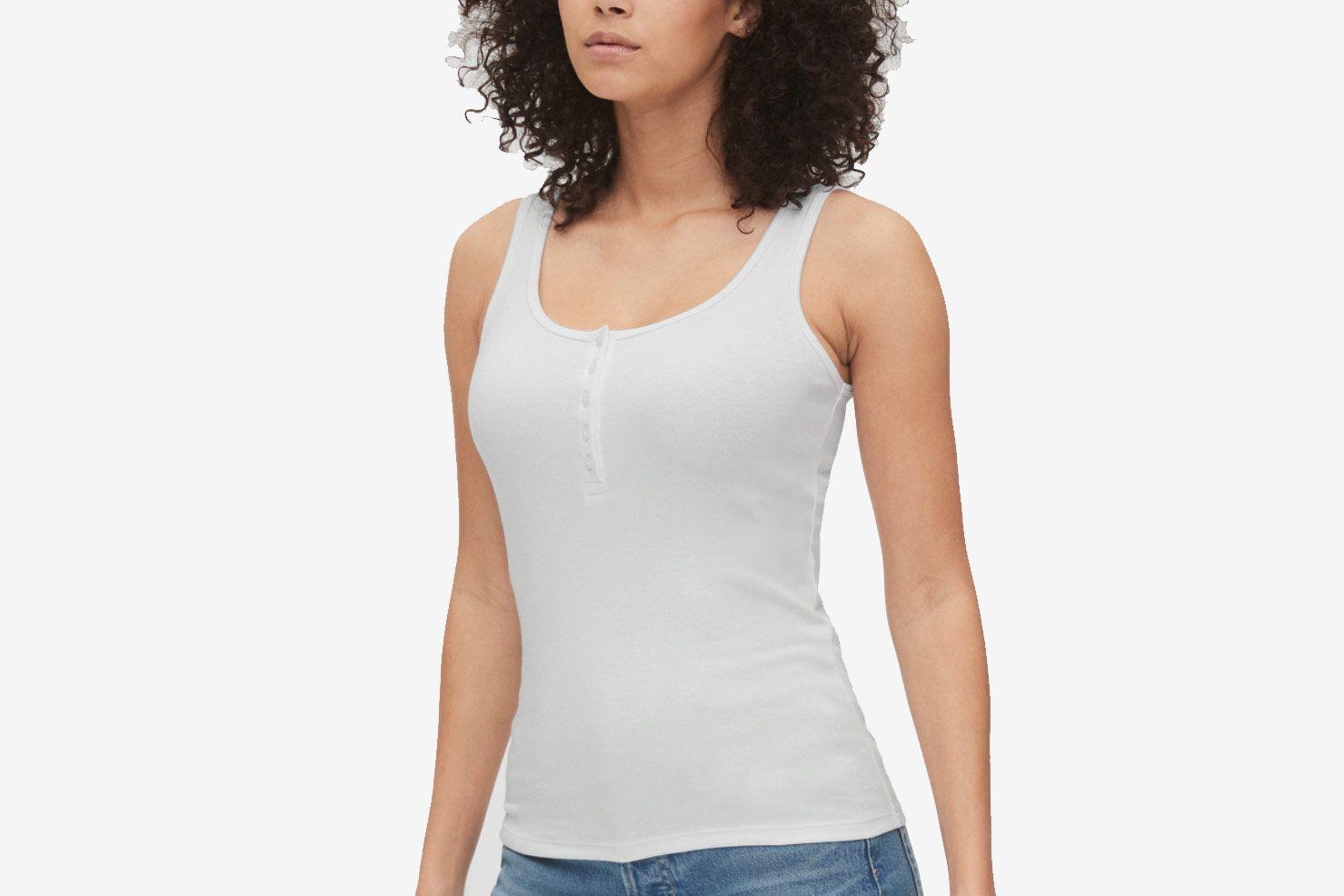 Pack of 3 Ladies Plain Stretch Cotton Vest Lace Trim Camisole Tank Top 3 Colours