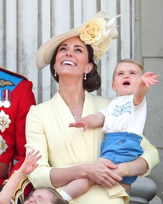 Kate Middleton and Prince Louis at Trooping the Colour.