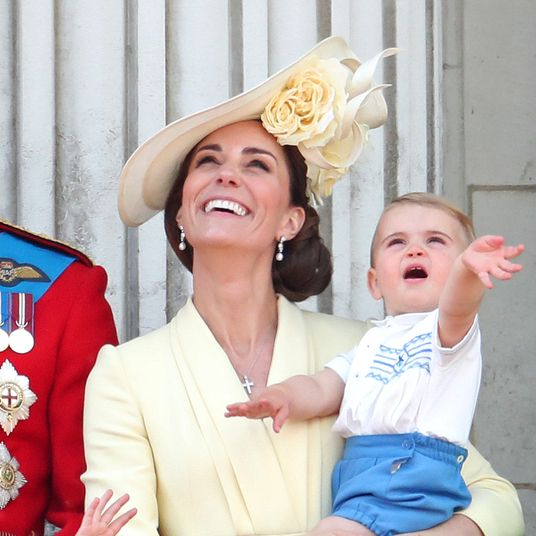Prince Louis Shows Off Royal Wave at Trooping The Colour