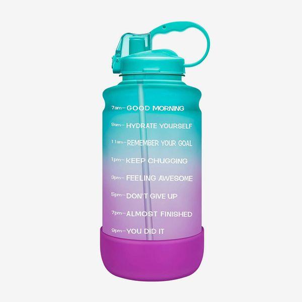 Elvira 64oz Motivational Time Marker Water Bottle with Straw