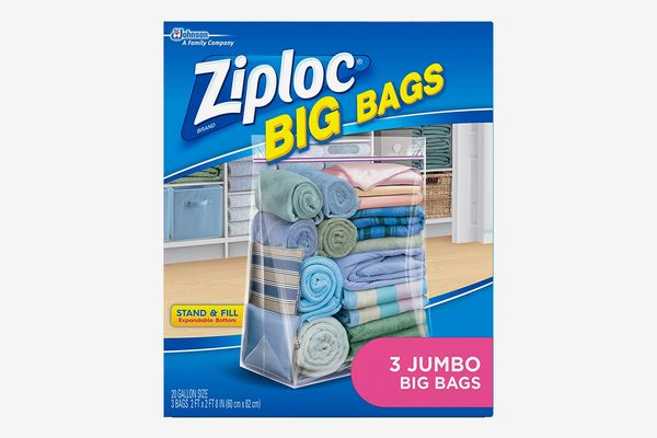 Ziploc Big Bags, XXL Double Zipper Bag, 3 Pack