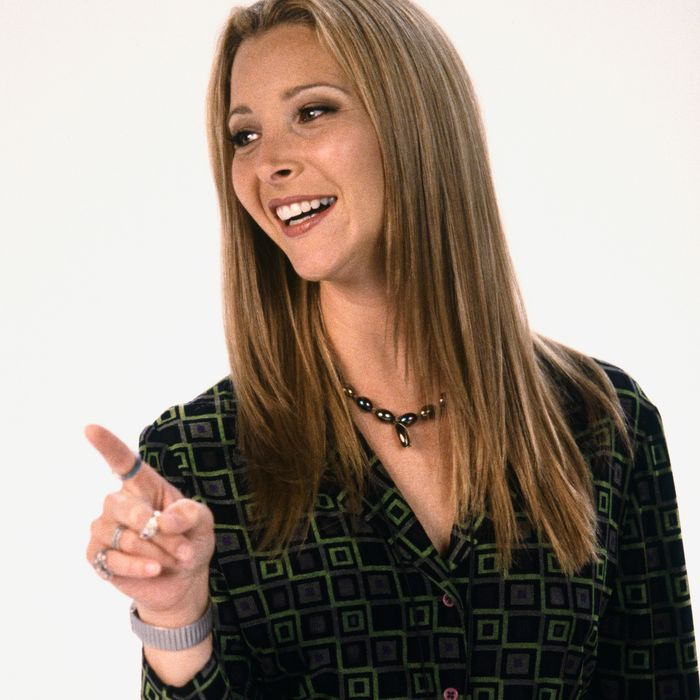 FRIENDS -- Season 4 -- Pictured: Lisa Kudrow as Phoebe Buffay-- Photo by: Gerald Weinman/NBCU Photo Bank