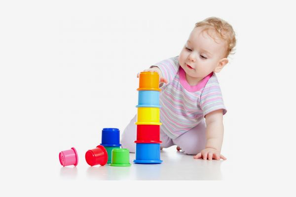 Kidsthrill Rainbow Stacking & Nesting Cups Baby Building Set