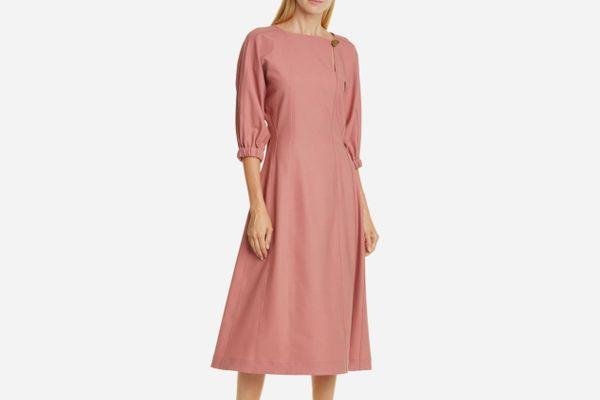 Sea Hayes Blouson Sleeve Midi Dress