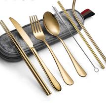 Hommaly Portable-Utensils Flatware 8-Piece Cutlery Set