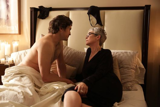"SCREAM QUEENS: L-R: Oliver Hudson and Jamie Lee Curtis in the first part of the two-hour ""Dorkus"" and ""The Final Girls"" season finale episodes of SCREAM QUEENS airing Tuesday, Dec. 8 (8:00-10:00 PM ET/PT) on FOX. ©2015 Fox Broadcasting Co. CR: Patti Perret/FOX"