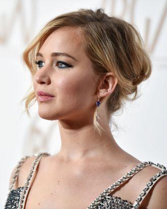Jennifer Lawrence, a victim of last summer's nude photo leak.