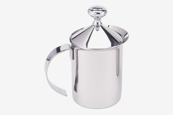 HIC Milk Creamer Frother Cappuccino Coffee Foam Pitcher with Handle and Lid