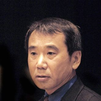 A picture taken on October 30, 2006 shows Japanese writer Haruki Murakami during a ceremony where he received the 2006 Franz Kafka Award in Prague.