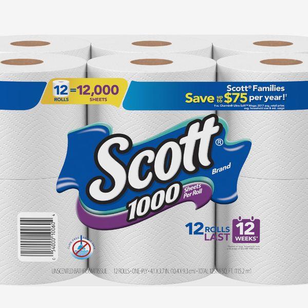 Scott 1000 Sheets Per Roll Toilet Paper - 12-pack