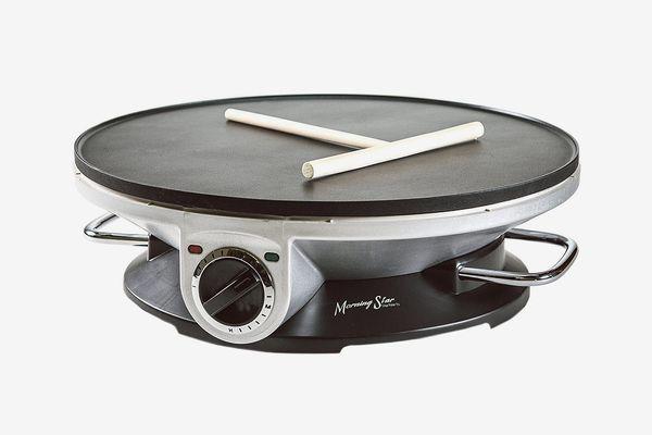 Morning Star — Crepe Maker Pro — 13 Inch Crepe Maker & Electric Griddle — Non-stick Pancake Maker
