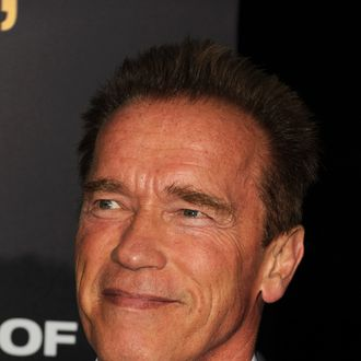 LOS ANGELES, CA - SEPTEMBER 17: Arnold Schwarzenegger arrives at the premiere of Open Road Films'