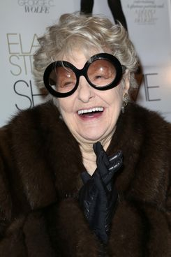 "NEW YORK, NY - FEBRUARY 19:  Elaine Stritch attends the ""Elaine Stritch: Shoot Me"" New York Screening at Paley Center For Media on February 19, 2014 in New York City.  (Photo by Walter McBride/WireImage)"