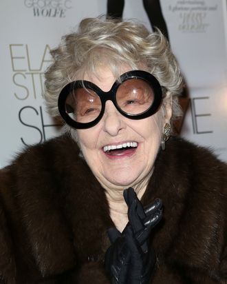 NEW YORK, NY - FEBRUARY 19: Elaine Stritch attends the