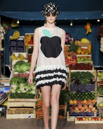 A look from Moschino Cheap & Chic's spring 2012 collection.