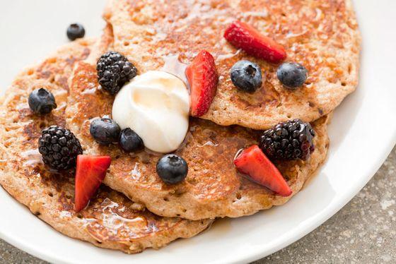 Quinoa buttermilk pancakes