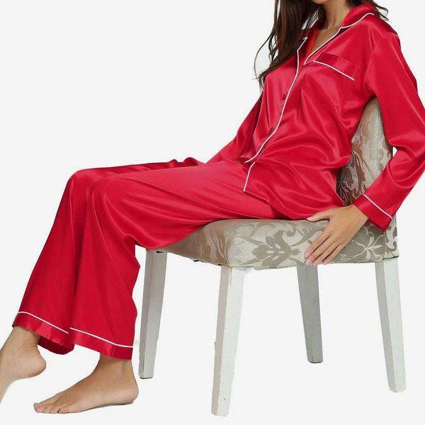 WOMENS LADIES SILKY BED PYJAMA SHORTS loose fit longer leg CREAM SIZES  8
