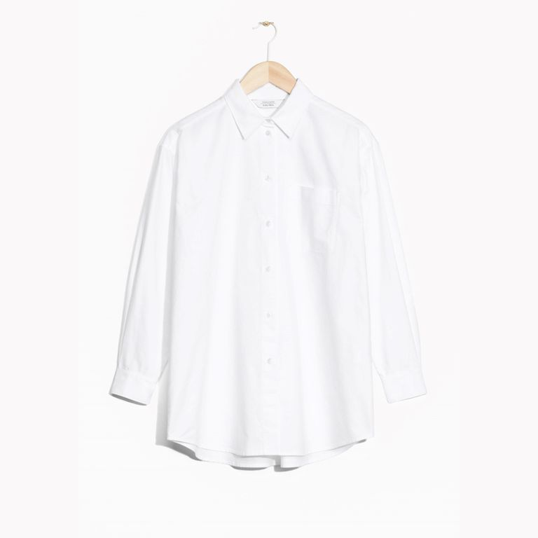 b4193c546869f The Slightly Oversize White Shirt You could fill a closet with variations  on a white button-down but if you're looking to buy one that can pull d.