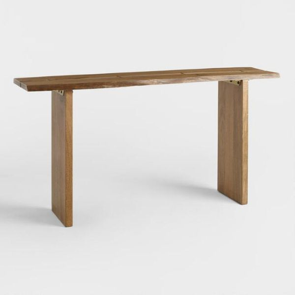 World Market Wood Maleya Live Edge Console Table