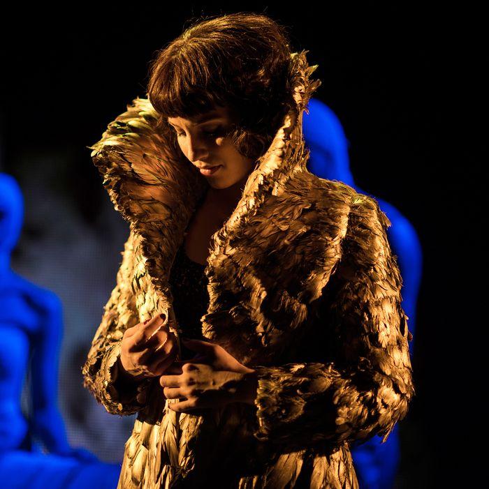 Dianna Agron as Dahlia in <em>McQueen</em>.