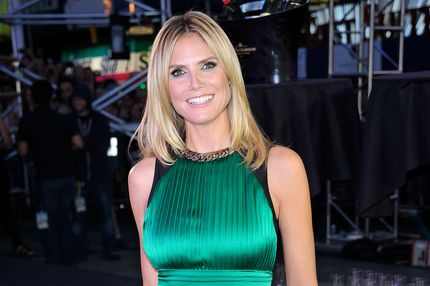 NEW YORK, NY - JUNE 15:  Host Heidi Klum attends 'Project Runway' 10th Anniversary Kick-Off in Times Square on June 15, 2012 in New York City.  (Photo by Gary Gershoff/WireImage)