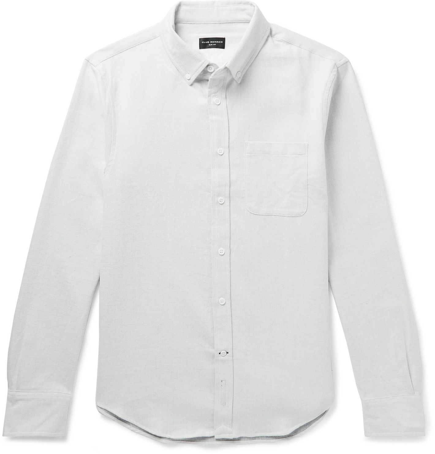2d4c5ce8acc Club Monaco Slim-Fit Button-Down Collar Double-Faced Cotton Shirt