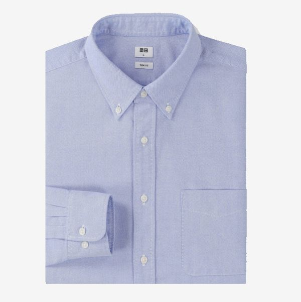 Uniqlo Men's Slim-Fit Oxford Long-Sleeve Shirt