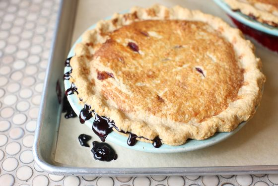A wild blueberry pie.