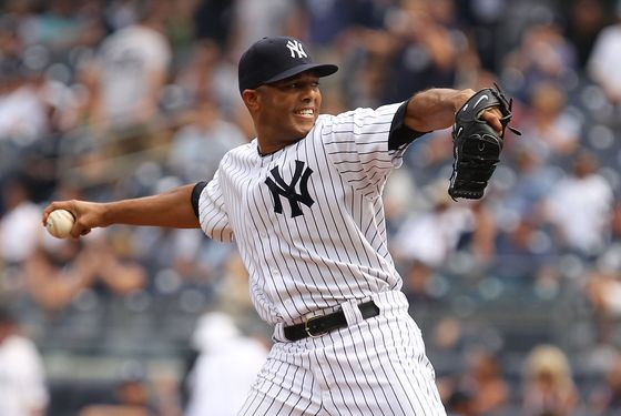 NEW YORK, NY - JULY 24:  Mariano Rivera #42 of the New York Yankees pitches to the Oakland Athletics during their game on July 24, 2011 at Yankee Stadium in the Bronx borough of New York City.  (Photo by Al Bello/Getty Images)