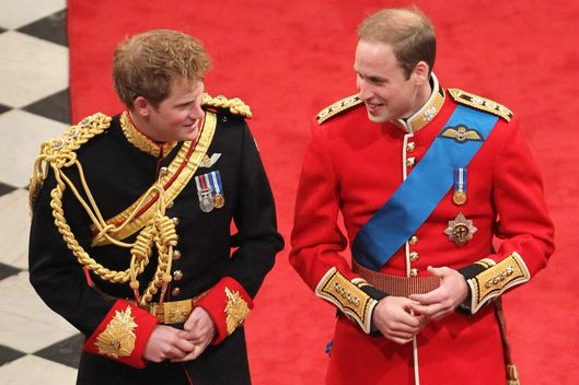 LONDON, ENGLAND - APRIL 29: (L-R) Prince Harry and Prince William Duke of Cambridge inside Westminster Abbey on April 29, 2011 in London, England. The marriage of Prince William, the second in line to the British throne, to Catherine Middleton is being held in London today. The Archbishop of Canterbury conducted the service which was attended by 1900 guests, including foreign Royal family members and heads of state. Thousands of well-wishers from around the world have also flocked to London to witness the spectacle and pageantry of the Royal Wedding and street parties are being held throughout the UK.   (Photo by  Andrew Milligan - WPA Pool/Getty Images) *** Local Caption *** Prince William Duke of Cambridge;Prince Harry;