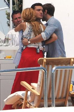 Blake Lively, Chase Crawford and Ed Westwick filming an episode of 'Gossip Girls' in Long Beach, CA.           <P>           Pictured: Blake Lively, Chase Crawford and Ed Westwick           <P>           <B>Ref: SPL303232  030811  </B><BR/>           Picture by: MAP  / Splash News<BR/>           </P><P>           <B>Splash News and Pictures</B><BR/>           Los Angeles:310-821-2666<BR/>           New York:212-619-2666<BR/>           London:870-934-2666<BR/>           photodesk@splashnews.com<BR/>           </P>