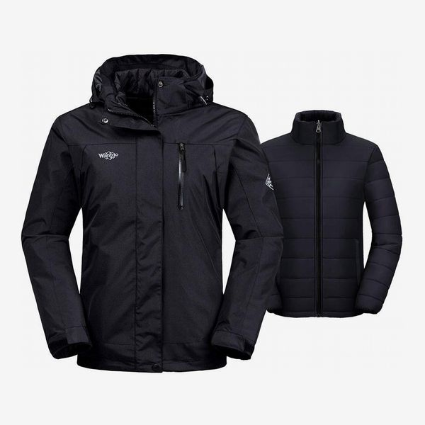 Wantdo Women's Three-in-One Waterproof Ski Jacket With Puffer Liner