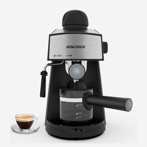 Sowtech Espresso Machine with Steam Milk Frother and Carafe