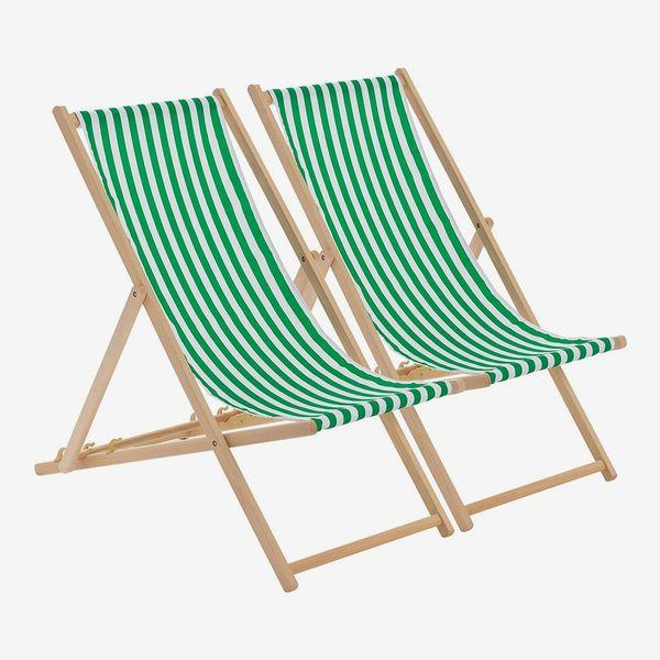 Harbour Housewares Deck Chair Set