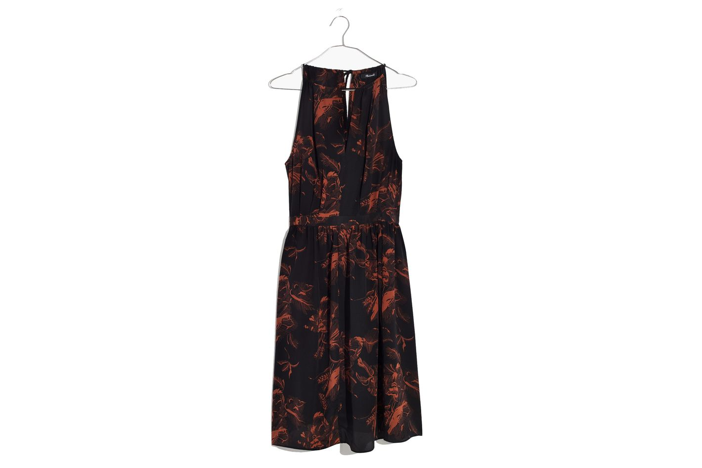 Madewell x No.6 Silk Keyhole Dress
