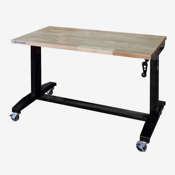 Husky Adjustable Height Work Table