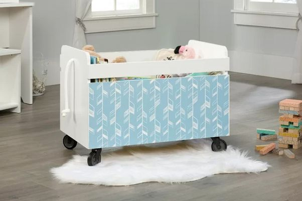Harriet Bee Garza Rolling Toy Box