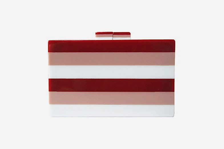 Acrylic Striped Clutch