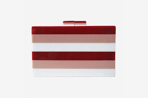 Acrylic Striped Clutch