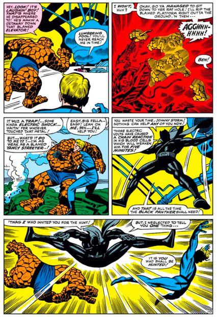 Black Panther Beats Up The Fantastic Four Photo Marvel Entertainment
