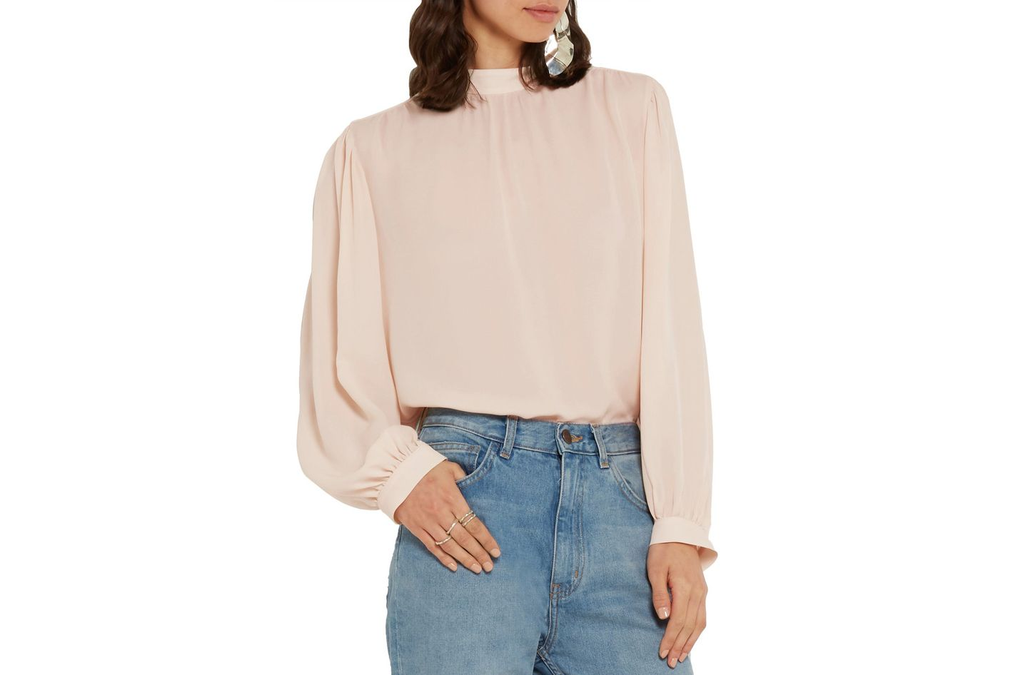 Christopher Kane silk crepe de chine blouse