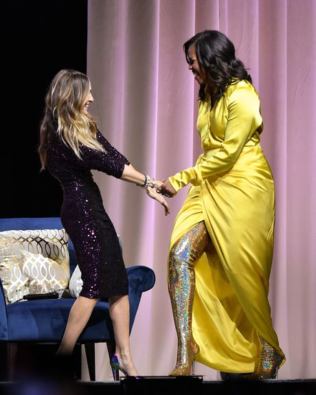 a2bf15e7e6f Sarah Jessica Parker and Michelle Obama. Photo  Dia Dipasupil Getty Images