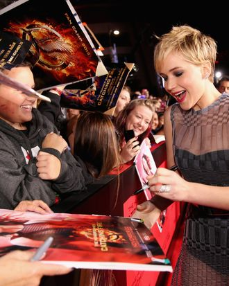Actress Jennifer Lawrence attends premiere of Lionsgate's