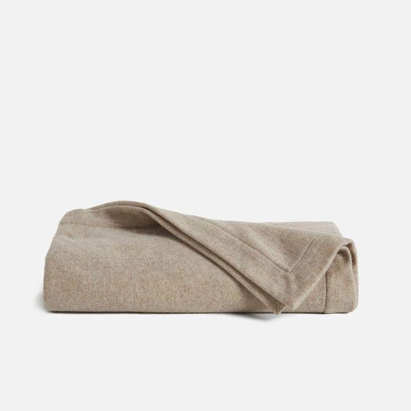 brooklinen cashmere and lambswool throw blanket